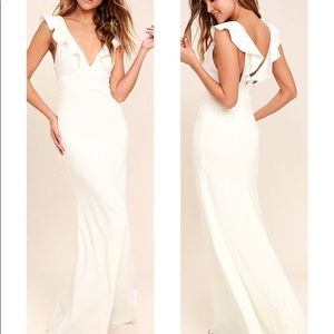 Lulus Perfect Opportunity White Maxi Dress